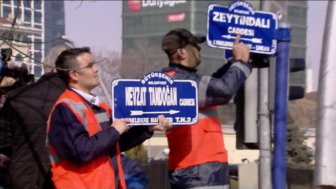 ABD Büyükelçiliği'nin bulunduğu sokağın adı Zeytin Dalı oldu