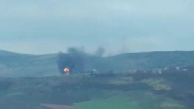 Afrin'de PKK/PYD'ye ait terör cephaneliği böyle darmadağın edildi!