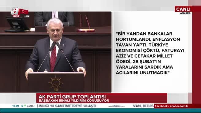Başbakan Binali Yıldırım'dan CHP'ye belgelerle yanıt verdi
