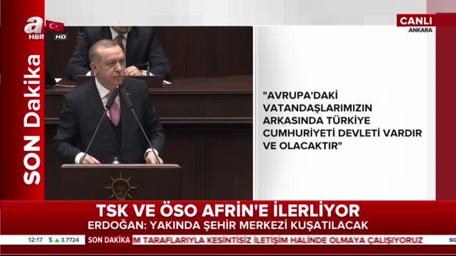 Cumhurbaşkanı Erdoğan: Hepsinin hakkından ALLAH'ın izniyle geliriz!