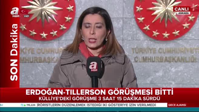 Cumhurbaşkanı Erdoğan ile Tillerson görüşmesinin detayları