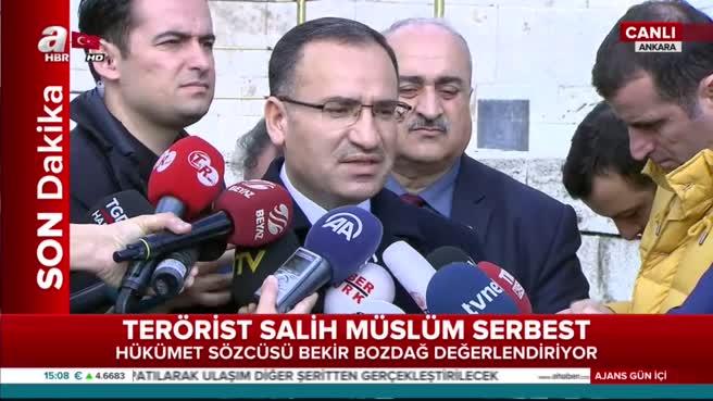 Hükümetten teröristbaşı Salih Müslim'in serbest bırakılması kararına sert tepki!