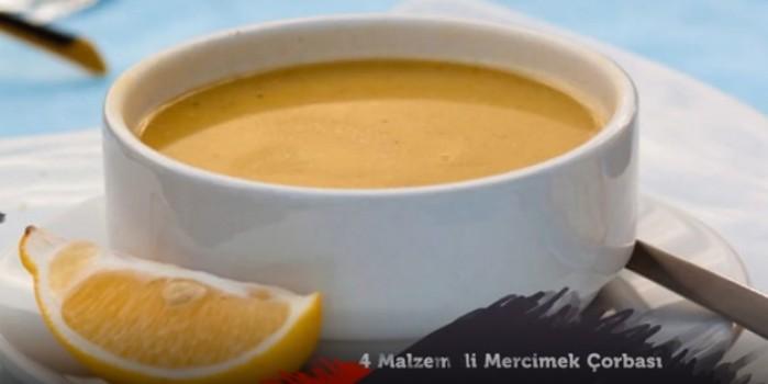 4 malzemeli mercimek çorbası nasıl yapılır?
