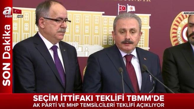AK Parti ve MHP temsilcileri Cumhur ittifakı açıklaması yaptı.