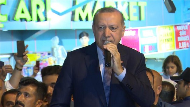 Başkan Erdoğan: Onların dolarları varsa bizim de halkımız, hakkımız var dedi.