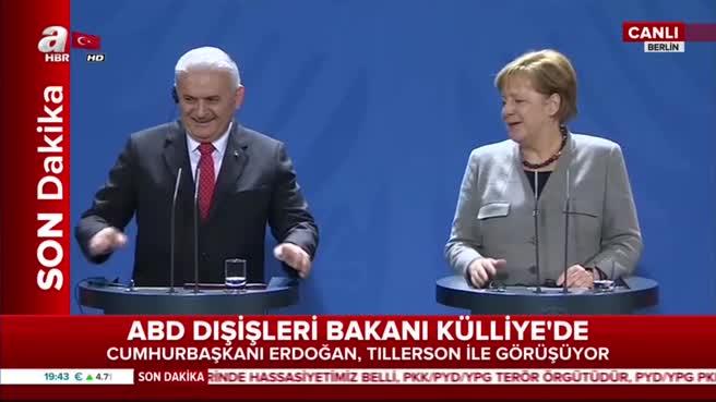 Berlin'de skandal! Başbakan Yıldırım haddini bildirdi