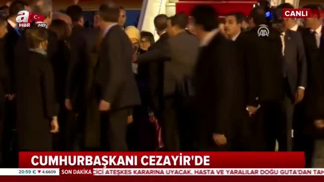 Cumhurbaşkanı Erdoğan'a Cezayir'de görkemli karşılama