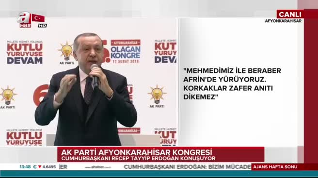 Cumhurbaşkanı Erdoğan: Mehmedim ne diyor hedef Kızılelma!