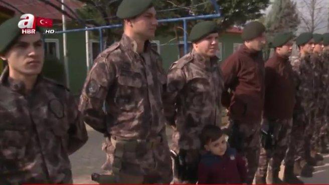 Kahramanlar Afrin'e uğurlandı.