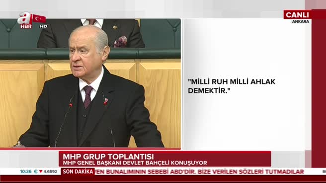 MHP Genel Baskani Devlet Bahceli'den idam mesajı!