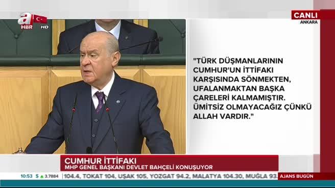 MHP lideri Devlet Bahçeli'den CHP'ye sert tepki!