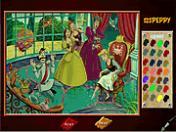 Sinderella Boyama Oyunu Oyna